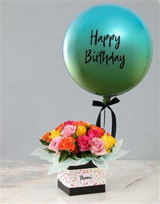 gifts: Personalised Blue Birthday Balloon Combo!