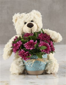 flowers: Purple Sprays and Sunshine Bouquet!