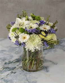 flowers: Fresh Sensations Mixed Flowers Arrangement!