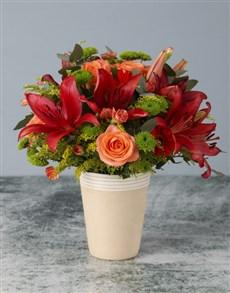 flowers: Orange Skies Mixed Arrangement!