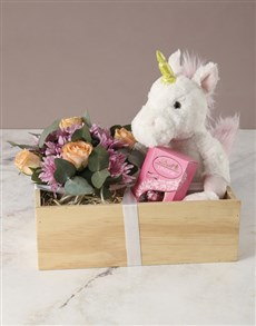 gifts: Be My Unicorn Rose Crate!