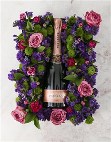 gifts: Palette of Purples Champagne Arrangement!