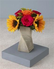 flowers: Spicy Sunflower Arrangement!