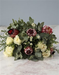 flowers: Charming Mixed Protea Bouquet !