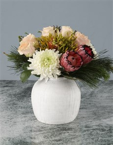 gifts: Delightful Mixed Red Protea Bouquet!