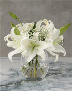 flowers: Age Of Opulence Lily Arrangement!