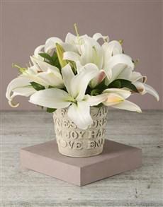 flowers: Classy Casablanca Lily Arrangement!