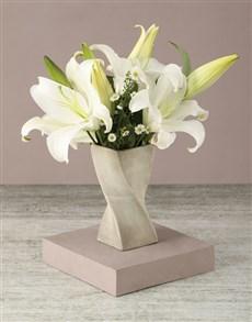 flowers: Lilies Of Luxury Arrangement!
