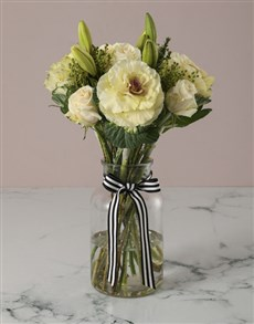 gifts: Luscious White Lilies And Kale Arrangement!