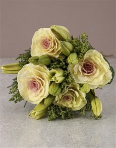 flowers: White Lilies And Kale Bouquet!