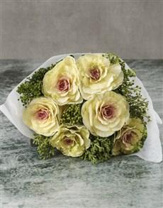 flowers: Bright Kale Bouquet!