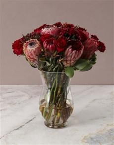 flowers: Fiery Skies Protea Arrangement!