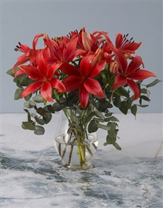 flowers: Lively Lily Arrangement!