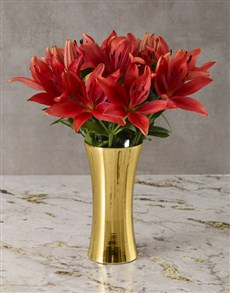 flowers: Glimmering Beauty Lily Arrangement!