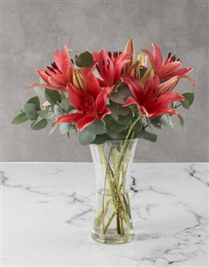 flowers: Awesome Asiflorum Lily Arrangement!