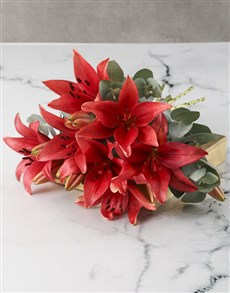 flowers: Bright And Beautiful Lily Bouquet!