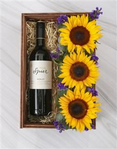 flowers: Wine Not Sunflower Box!