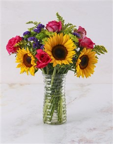 flowers: Soak Up The Sunflower Arrangement!