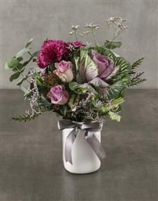 flowers: Purple Paradise Cut Kale Arrangement!