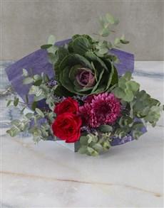 flowers: Purple Perfection Cut Kale Bouquet!