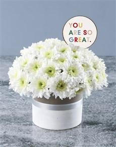 gifts: Great White Spray Arrangement!