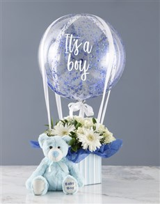 gifts: Bouncing Boy Flowers With Plush!