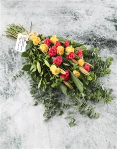 flowers: Supportive Orange Roses!