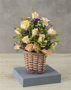 flowers: Basket Full of Cream Rose Charm!