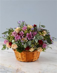 flowers: Beautifully Bright Blooms in Basket!
