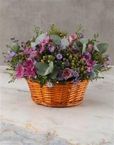 flowers: Pretty Purple Mix Basket!