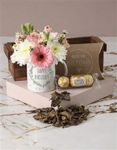 flowers: Polished Pastels Happy Birthday Mug Arrangement!