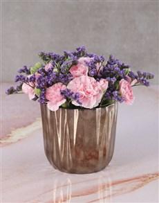 flowers: Pink Perfection Carnation Arrangement!