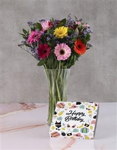 flowers: Birthday Gerberas With Chocs!