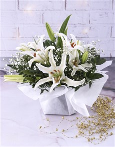 flowers: Stunning Open Lilies In Bowl!