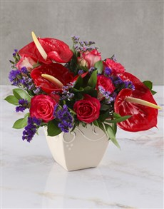 flowers: Vibrant Anthuriums And Blooms!