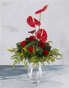 flowers: Magnificent Anthurium Arrangement!