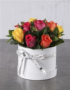 flowers: Bright Blooms In A White Box!