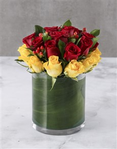 flowers: Hues Of Sunset Mixed Roses!