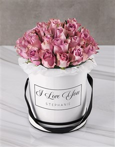 flowers: Love You And Lilacs Hatbox!