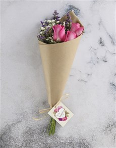 flowers: Perfect Pink Roses With Swing Tag!