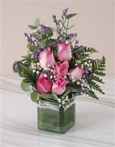 flowers: Stunning Pink Rose Arrangement !