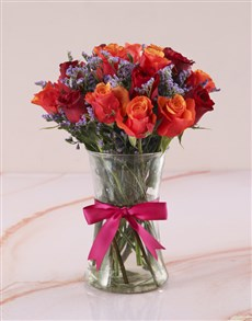 flowers: Cherry Brandy And Red Roses with Flair !