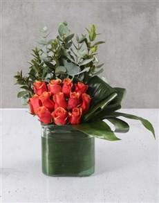 flowers: Cherry Brandy Rose Delight!