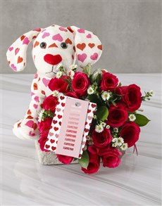 flowers: Cerise Rose Bouquet In White Wrapping!