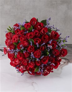 flowers: Bountiful Roses Wrapped Arrangement!