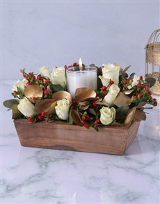 flowers: Merry and Bright Centerpiece!
