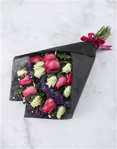 flowers: Elegant Mixed Rose Bouquet!