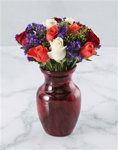 flowers: Sophisticated Mixed Rose Arrangement!