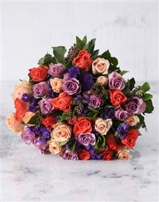 flowers: Mesmerising Mixed Rose Bouquet!