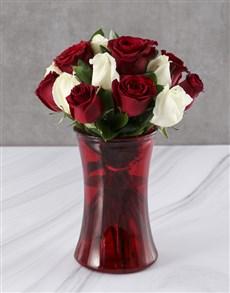 flowers: Ravishing Mixed Rose Vase Gift!